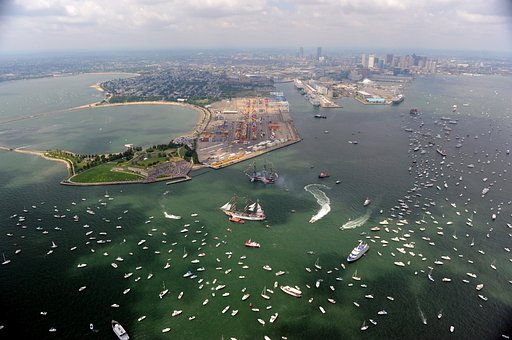 Boston, Massachusetts, Bay, Harbor, Water, Ships, Gala