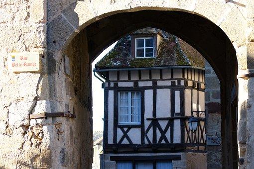 Medieval Archway, St Benoit Du Sault