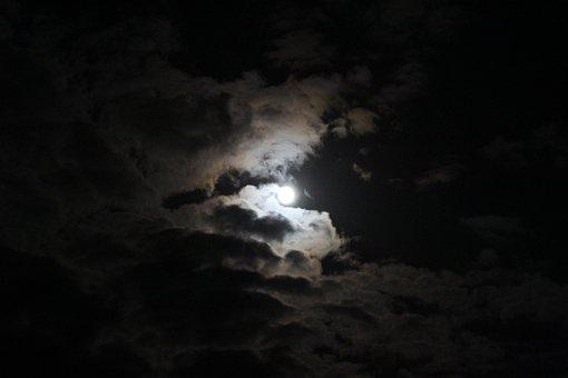 Sky, Dark, Creepy, Mystical, Accommodation, Moon