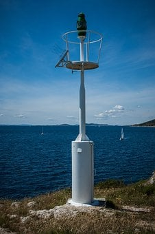 Beacon, Sea, Coast, Water, Blue, Nature, Croatia
