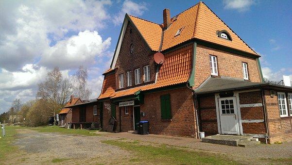 Railway Station, Amelinghausen, Train, Weather