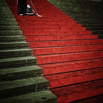 Stairs, Emergence, Input, Perspective, Red Carpet, Red