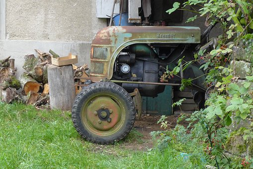 Tractors, Retirement, Oldie, Rusted, Museum Piece