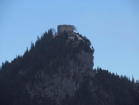 Castle Falkenstein, Castle, Fortress, Ruin, Building