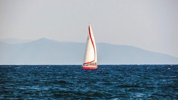 Sailboat, Sailing, Sea, Summer, Yachting, Vacation