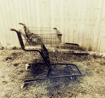 Shopping Cart, Abandoned, Grocery Cart