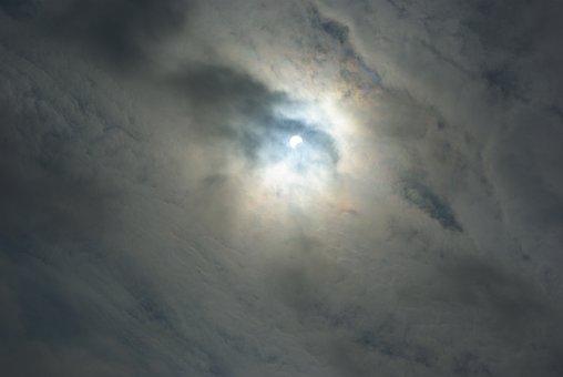 Solar Eclipse, Moon, Sun, Lunar, Sky, Solar, Partial