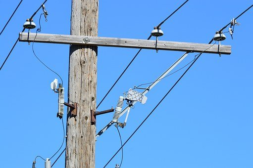 Power Line, Telephone Pole, Utility, Electricity, Cable