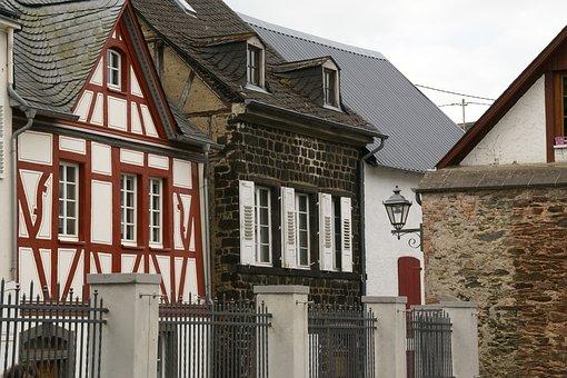 Münstermaifeld, House, Facade, Timber Framing, Historic
