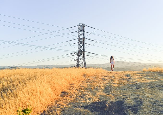 Power, Utility, Pole, Electricity, Line, Voltage