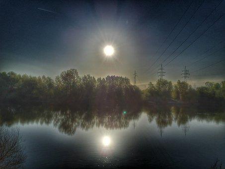 River, Water, Sun, Nature, View, Summer, Landscape