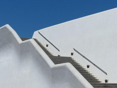 Stairs, Emergence, Gradually, Staircase, White