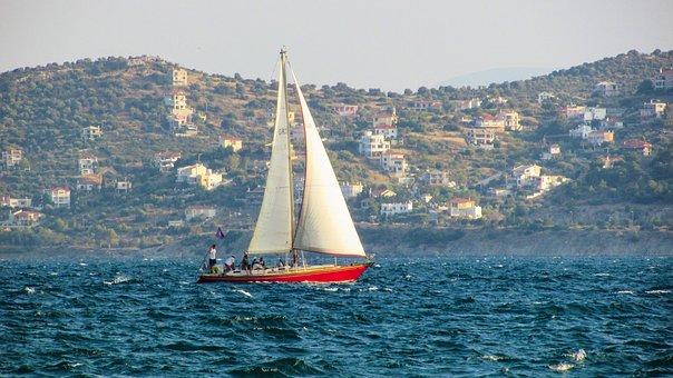 Sailing Boat, Sea, Summer, Yacht, Wind, Yachting