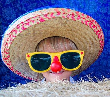 Fun, Clown, Hat, Child, Boy, Kid, Funny, Play, Happy