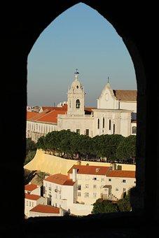 Lisbon, Portugal, Castle, Tagus River, Window