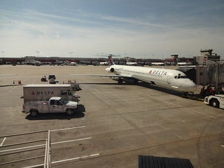 Aircraft, Delta Airlines, Atlanta, Usa, Flying, Airport
