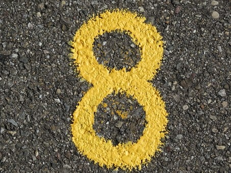 Number, Ad, Yellow, Color, Asphalt, Road, Digit