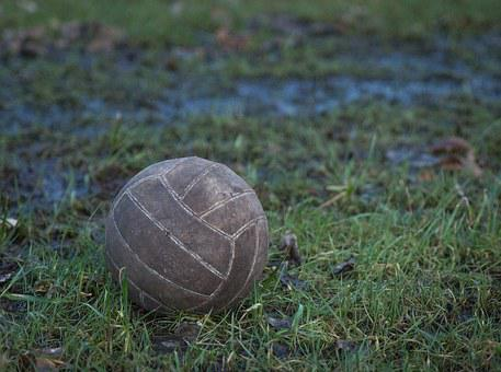 Old, Ball, Volleyball, Worn, End, Game Over, Sports
