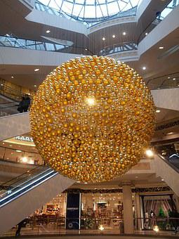 Essen, Shopping Mall, Christmas Decorations, Germany