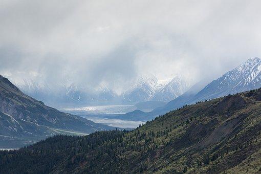 Clouds, Daylight, Fog, Forest, Hill, Landscape