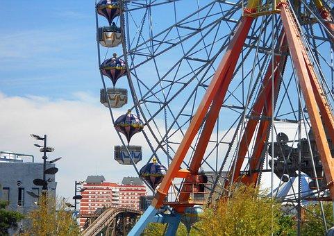 Amusement Park, Wheel, Fun, Children, Family, Holiday
