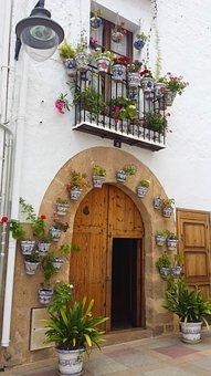 Spain, House, Flowers, Javea, Europe, Spanish