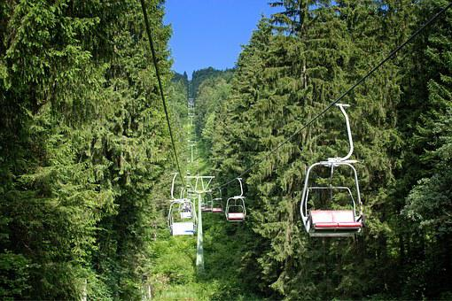 Transport, Human, Personal, Chairlift, Nature, Forest