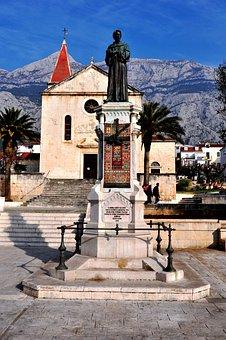 Kacic Square, Concathedral St Mark, Makarska, Croatia