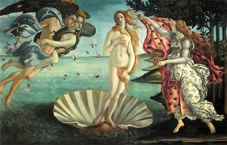 Painting, La Nascita Di Venere, Botticelli