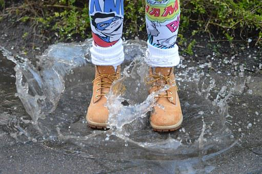 Water, Shoe, Plas, Jump, Color