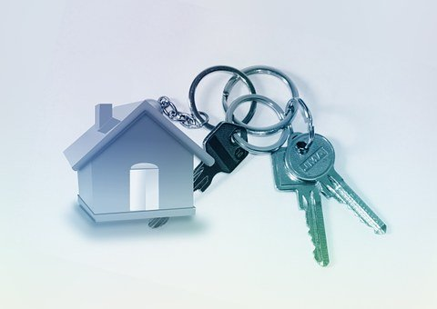 Home, Key, Keychain, Door Key, Turnkey, Catchment, Rent