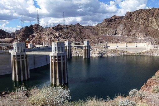 Lake Mead, Reservoir, Hoover Dam, Nevada, Concrete