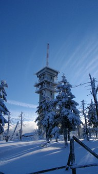 Tower, Klínovec, Snow, White, Winter, Roof, Snowy, Tree