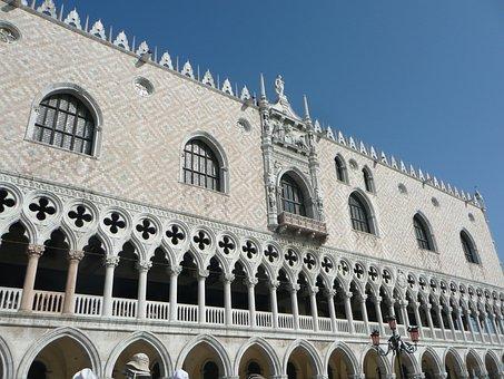St Mark's Square, Venice, Doge's Palace, Italy