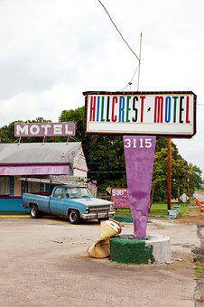 Hillcrest Motel, Sheffield, Alabama, Usa, America