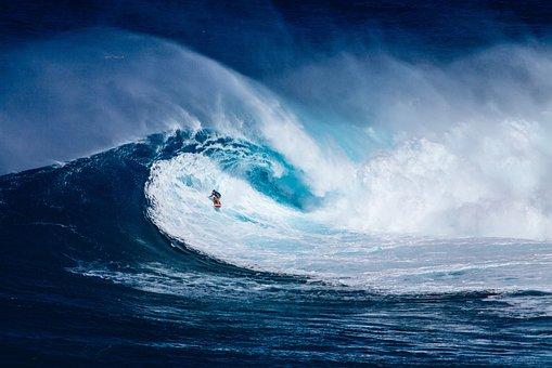 Beach, Ocean, Outdoors, Sea, Seascape, Surf, Surfer