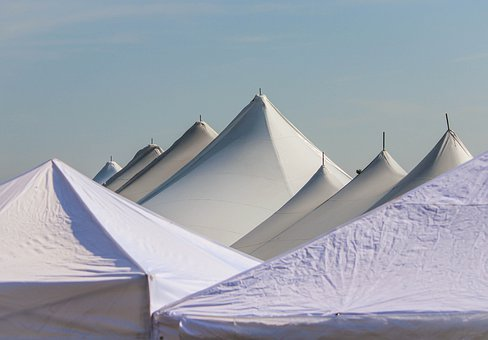 Tent Tops, Bigtops, Fair, Circus, Carnival, Apex