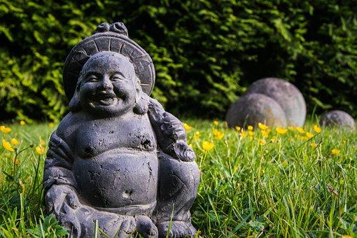 Buddha Unfokussiert, Buddha, Feng Shui, Garden, Zen