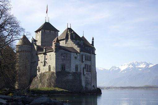 Castle, Montreux, Switzerland, Lake, Chillon, Travel