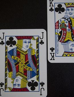 Playing Card, Cross Boy, Son, Father, Authority