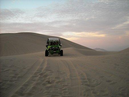 Desert, Sandboarding, Huacachina, Peru, Dunes, Ica