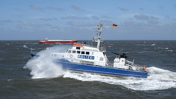 Police Boat, Boot, Use, Einsatzkraefe, Cuxhaven, Police