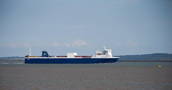 Ship, Vessel, Ferry, Water, Estuary, Thames