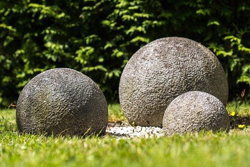 Feng Shui, Ball, Granite, Granite Ball, Garden