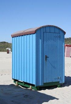 Shelter, Beach, Sand, Color, Blue, Coast, Island