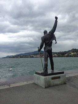 Monument, Water, Lake, Montreux, Switzerland