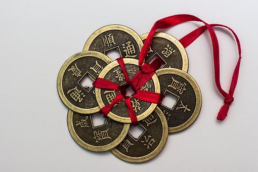 Chinese Coins, Coins, Chinese, Money, Lucky Coins, Luck