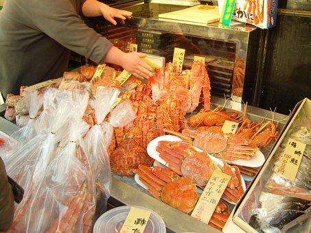 Market, Blue Crab, Red