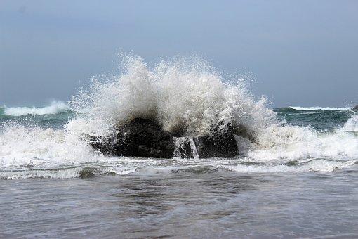 Crashing Wave, Ocean, Wave
