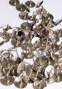 Metal, Drawing Pins, Pin, Drawing, Office, Thumbtack